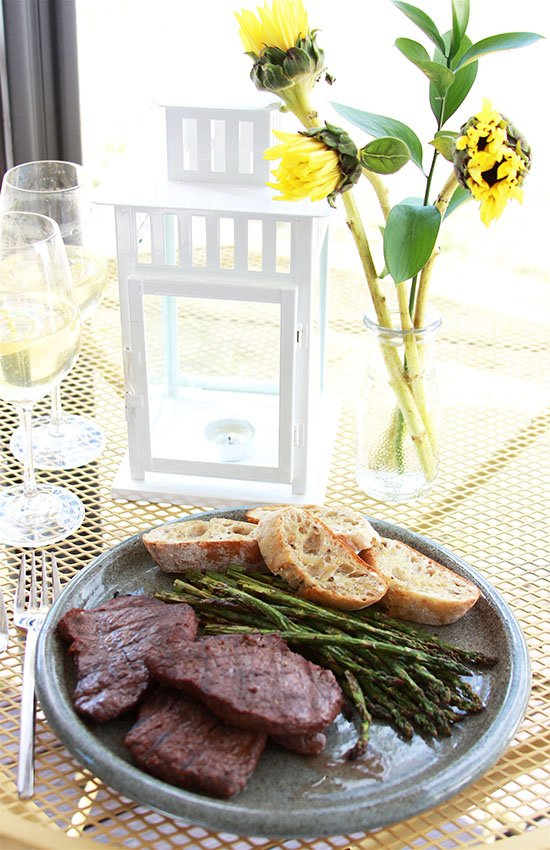 Grilled Red Wine Elk Steak is a flavorful marinade for elk or beef steak! www.cookingwithruthie.com