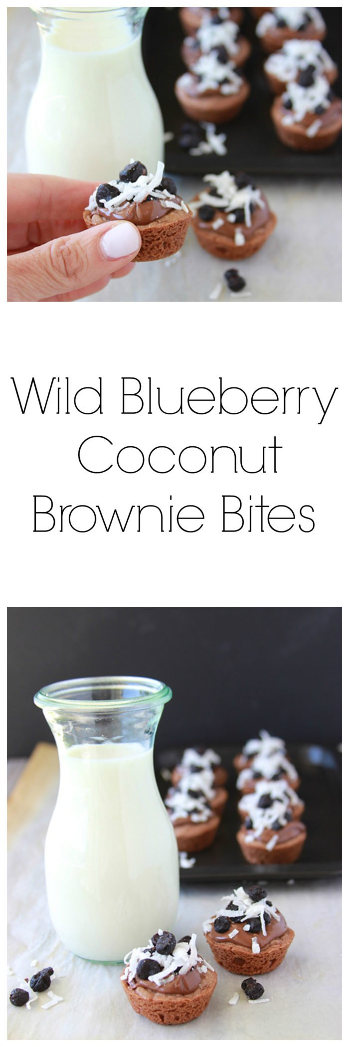 Wild Blueberry and Coconut Brownie Bites are a lovely little bite to share with the ones you love! www.cookingwithruthie.com