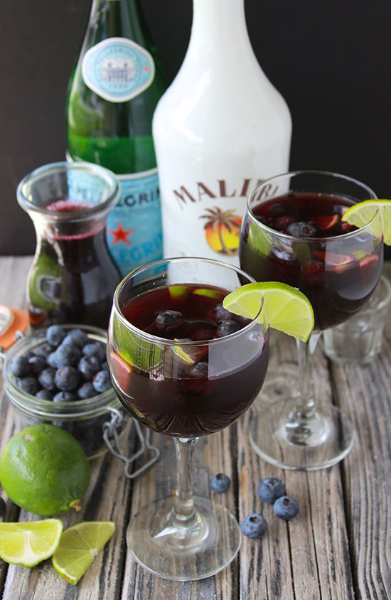Blueberry Lime Cocktails or Mocktails are a lovely beverage for your summer gatherings! www.cookingwithruthie.comv