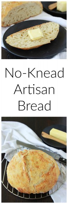 No-Knead Artisan Bread is so simple to make and tastes like it came from a bakery! www.cookingwithruthie.com
