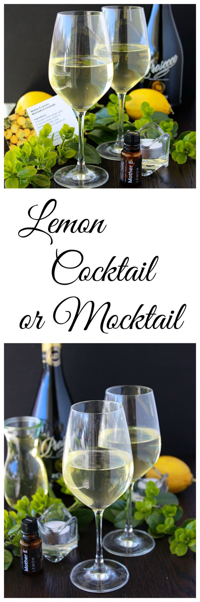 "Mother E Lemon Cocktail is a light and refreshing cocktail or mocktail! Plus The ""Keep Your Cool"" 30 Day Challenge!!"
