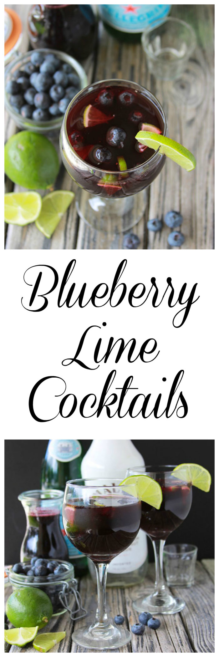 Blueberry Lime Cocktails or Mocktails are a lovely beverage for your summer gatherings! www.cookingwithruthie.com