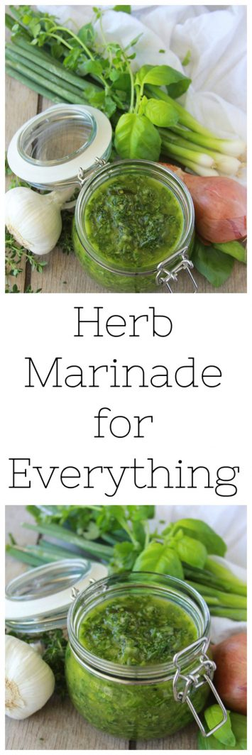 Herb Marinade for Everything is going to flavor your world! www.cookingwithruthie.com