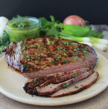 Herbed Flank Steak has got to go on your summer grilling must-try's! AH-mazing!! www.cookingwithruthie.com