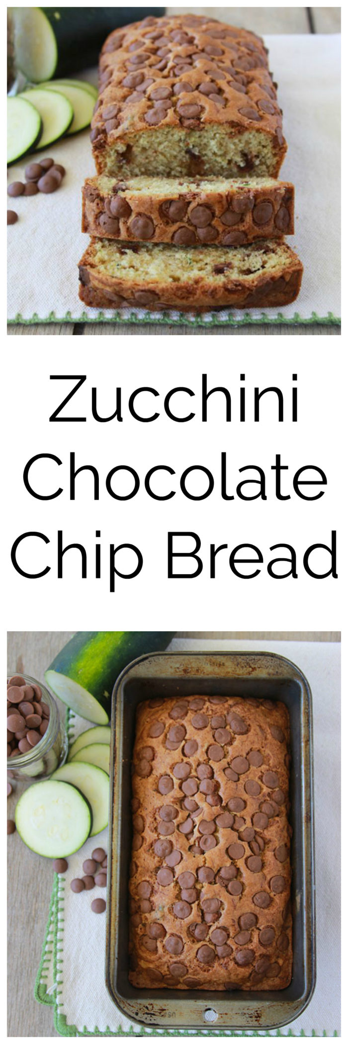 Zucchini Chocolate Chip Bread is a flavorful summer time loaf! www.cookingwithruthie.com