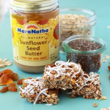 Mango, Coconut, Sunflower Seed Raw Bars are a tasty combination of healthy ingredients! www.cookingwithruthie.com
