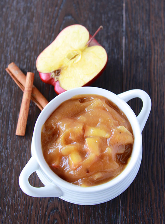 Cinnamon Apple Butter is four simple ingredients and tastes AHhhhmazing!! www.cookingwithruthie.com