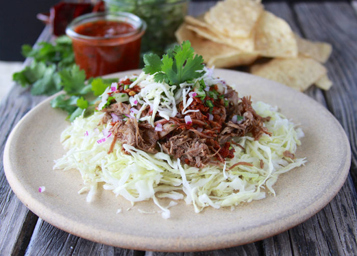Shredded Beef Taco Salad - Cooking With Ruthie