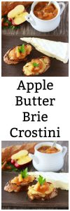 Apple Butter Brie Crostini will make all your autumn parties a hit! www.cookingwithruthie.com