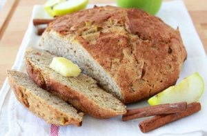 Apple Cinnamon Whole Grain Bread is a no-knead, whole grain, autumn loaf of love! #bobsredmill www.cookingwithruthie.com