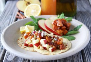 Butternut Squash and Apple Street Tacos is an delish autumn dinner! www.cookingwithruthie.com