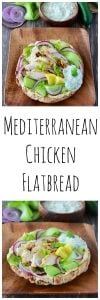 Mediterranean Chicken Flatbread is mouth-watering and filling enough for dinner! www.cookingwithruthie.com