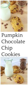 Pumpkin Chocolate Chip Cookies will bring the aromas and flavors of autumn into your kitchen!  www.cookingwithruthie.com