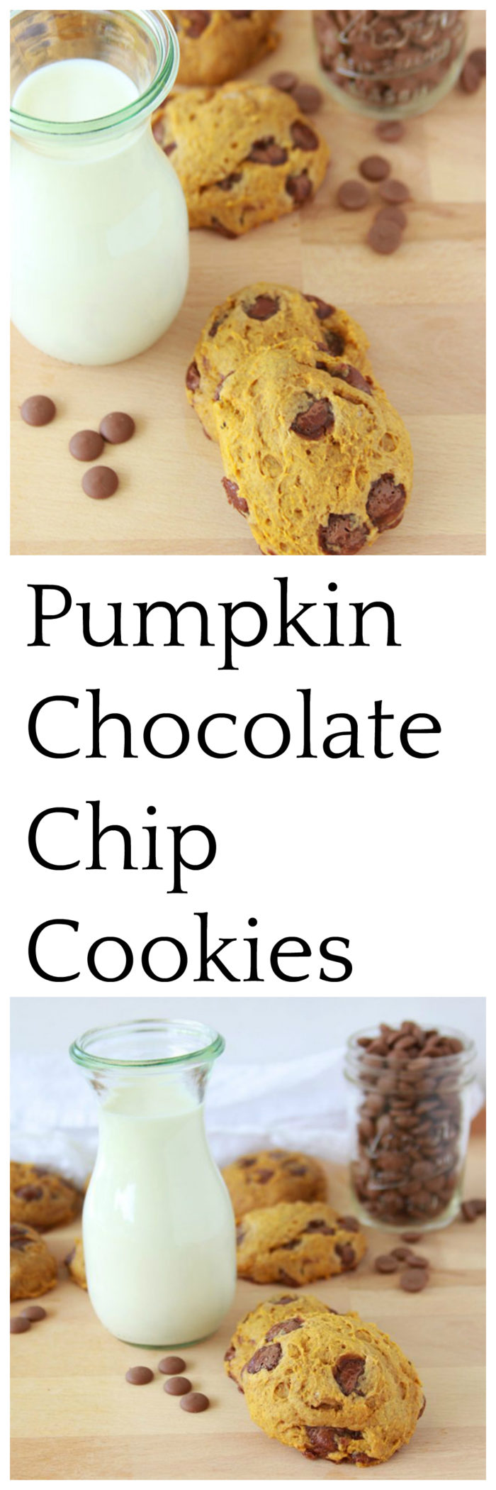 Pumpkin Chocolate Chip Cookies will bring the aromas and flavors of autumn into your kitchen!