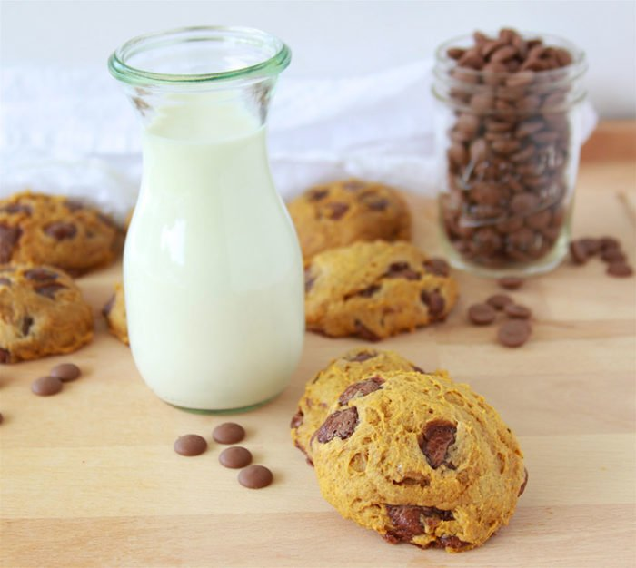 Pumpkin Chocolate Chunk Cookies will bring the smell and flavors of fall to your kitchen! www.cookingwithruthie.com