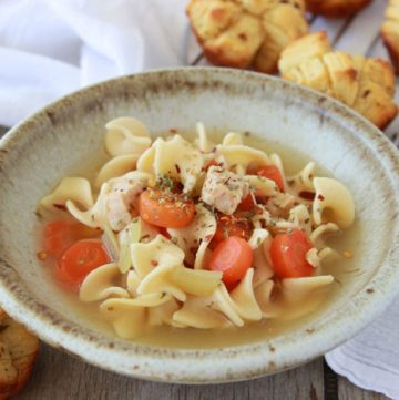 Southwest Pop-Apart Rolls with Light Progresso Chicken Noodle Soup- a quick and satisfying dinner! @walmart #progresso