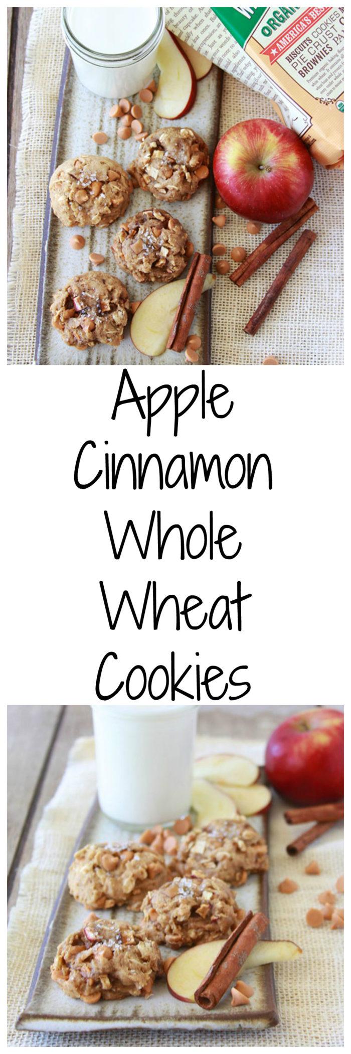 Apple Cinnamon Whole Wheat Cookies