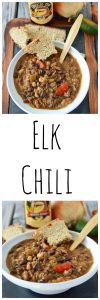 Elk Chili is the BEST chili ever. . . it's total comfort in a bowl and just what chilly evenings need!www.cookingwithruthie.com