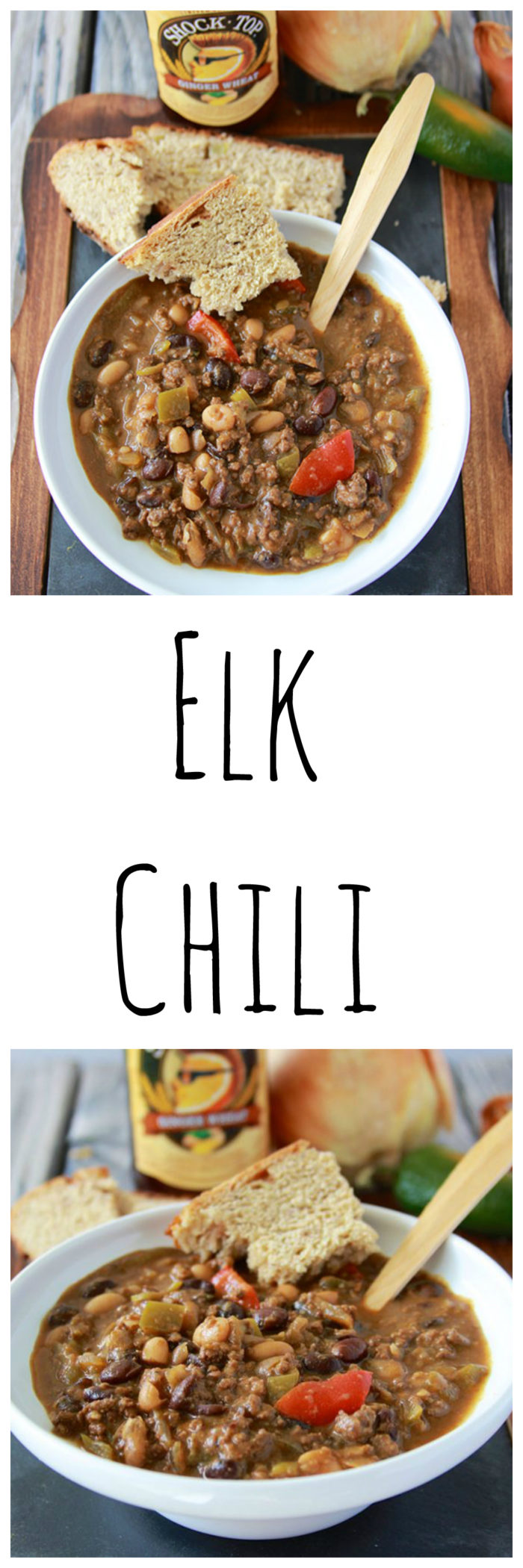 Elk Chili is the BEST chili ever. . . it's total comfort in a bowl and just what chilly evenings need! www.cookingwithruthie.com