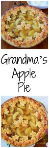 Grandma's Apple Pie is one of our very favorites and the pie crust is to-die-for! www.cookingwithruthie.com