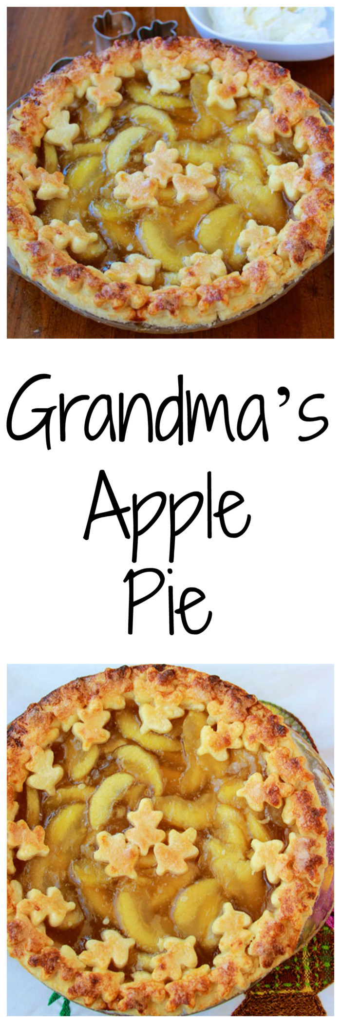 Grandma's Apple Pie is one of our very favorites and the pie crust is flaky and just to-die-for! www.cookingwithruthie.com