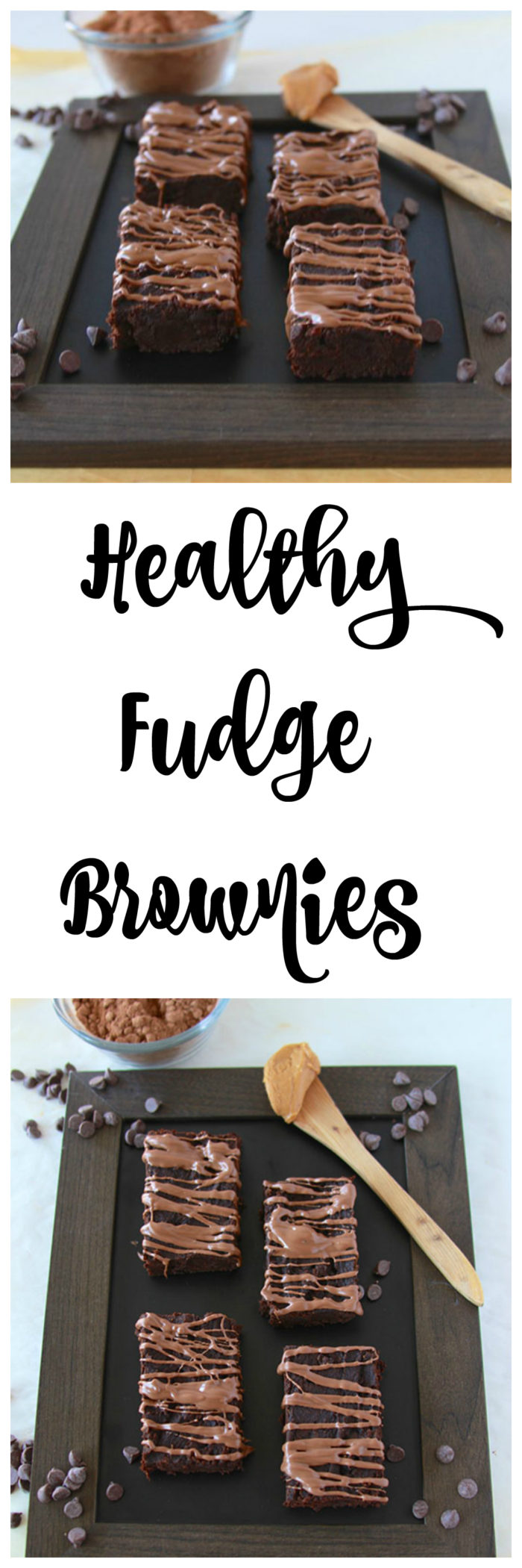 Healthy Fudge Brownies is only 4 ingredients and packed with protein and antioxidants! www.cookingwithruthie.com