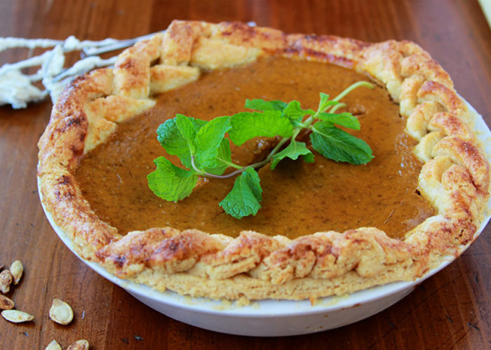 Homemade Pumpkin Pie is a tradition at our house for the holidays! www.cookingwithruthie.com