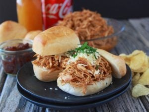 Honey Chipotle Chicken Sliders are a quick and easy meal  for your family during the busy holidays!  #CocaColaHoliday #spon @samsclub www.cookingwithruthie.com