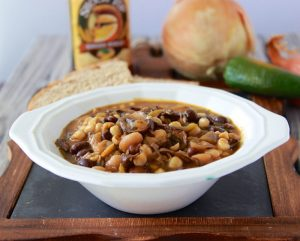 Two Bean Mushroom Chili will keep you warm and cozy all winter! www.cookingwithruthie.com