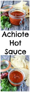 Achiote Hot Sauce will take the hot-meter to a whole new level- it's got kick! www.cookingwithruthie.com