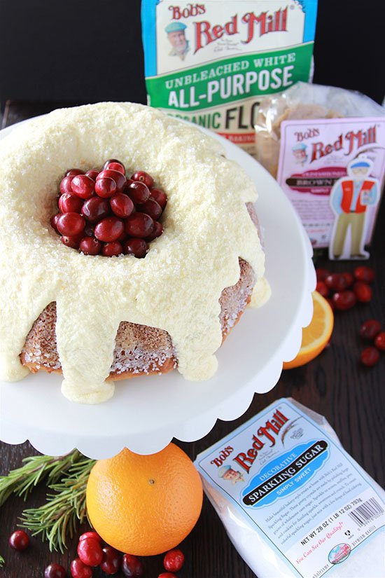 #ad Cranberry Orange Coffee Cake is perfect for your holiday brunch! @bobsredmill #paperbob #cookingwithruthie.com