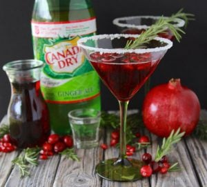 #ad Cranberry Pomegranate Cocktails or Mocktails are sure to make your holidays even more festive! www.cookingwithruthie.com #BuyDrinkGive #Walmart