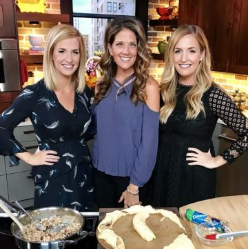 Brooke and I had so much fun in the kitchen making Cajun Turkey Cranberry Wreath on FOX13 last week! www.cookingwithruthie.com