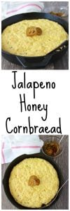 Jalapeno Honey Cornbread is the perfect side dish to your soup as the cold weather sets in! www.cookingwithruthie.com