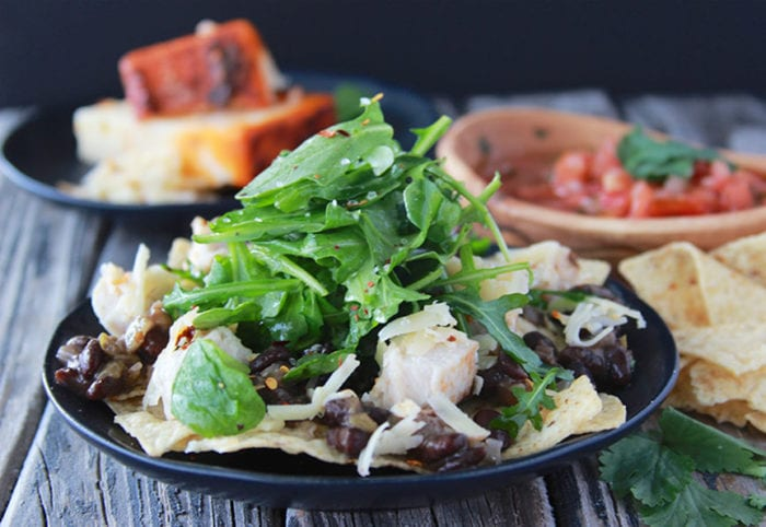 Chicken and Black Bean Taco Salad makes lunch time, fun times! www.cookingwithruthie.com