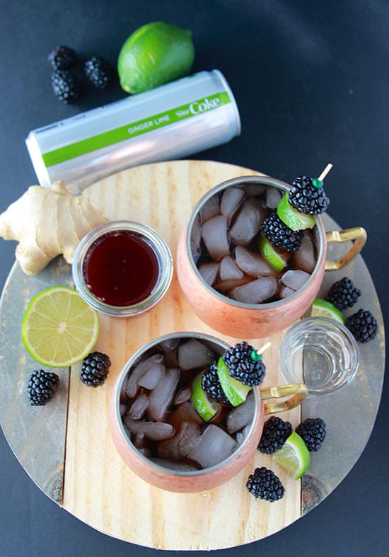 #ad Blackberry Ginger Lime Mules and the NEW Diet Coke varieties are a fabulous way celebrate the month-of-love! www.cookingwithruthie.com @samsclub #DietCokeatSams
