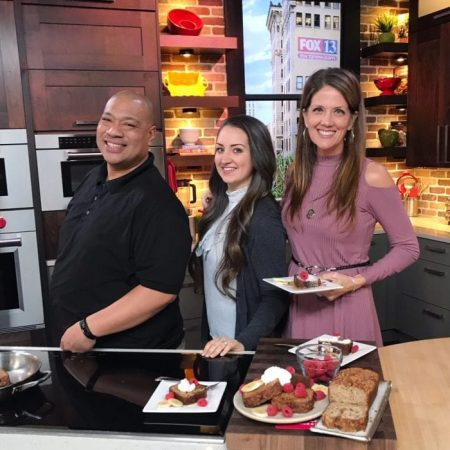 Banana Bread French Toast on FOX13 Madeliene and I our first segment together! www.cookingwithruthie.com