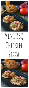 Mini BBQ Chicken Pizza is a quick and easy dinner that your kids will love! www.cookingwithruthie.com