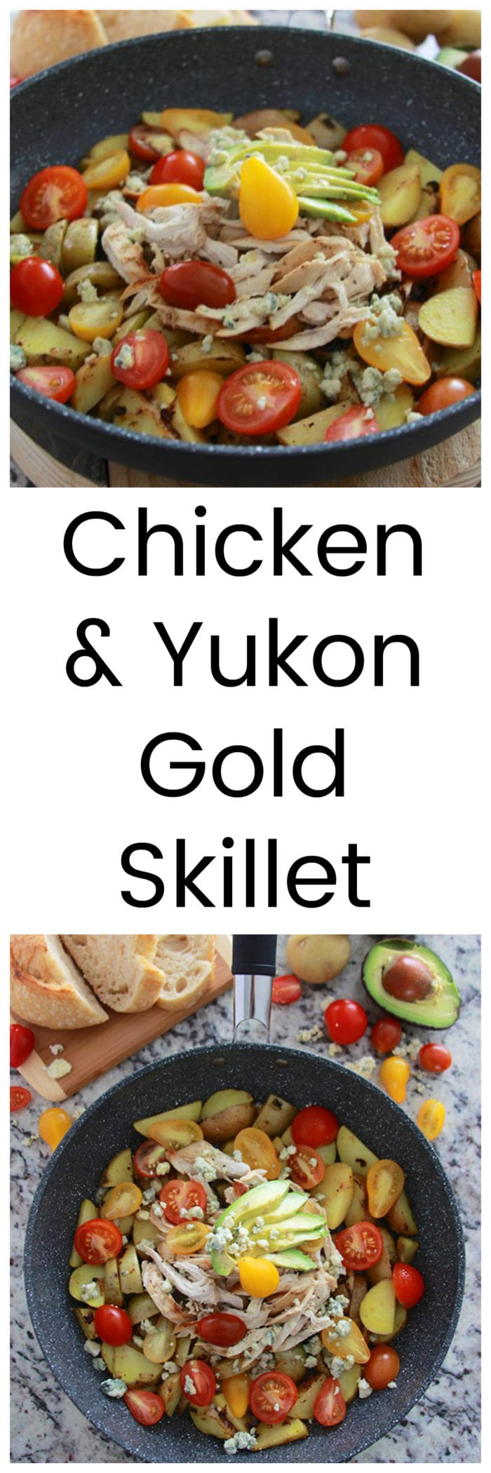 Chicken and Yukon Gold Skillet deliciousness in just one pan! www.cookingwithruthie.com