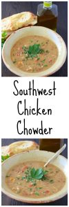 Southwest Chicken Chowder is a comfy-cozy meal the chilly winter nights! www.cookingwithruthie.com