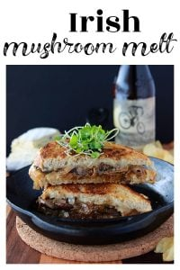 Irish Mushroom Melt is melt-in-your-mouth fabulousness! YUMMO! www.cookingwithruthie.com
