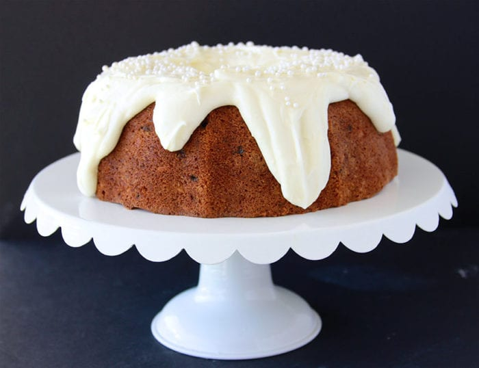 Carrot Bundt Cake with Lemon Cream Cheese Frosting Cooking With Ruthie