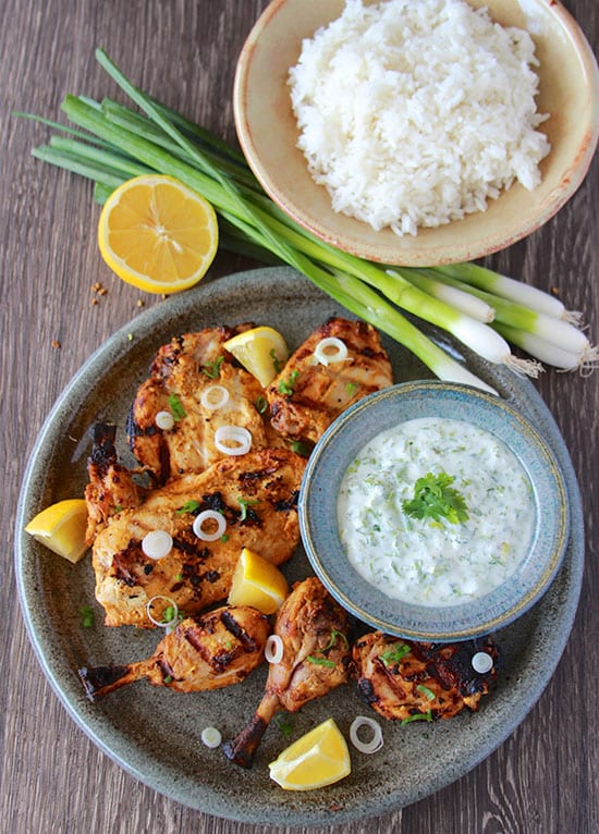 Grilled Tandoori Chicken authentic and it's so simple to make at home! www.cookingwithruthie.com