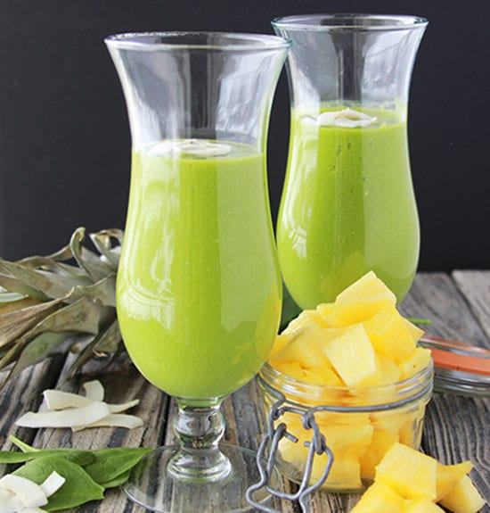 Mango, Pineapple, Spinach Smoothie is the tastiest Green Goddess Smoothie EVER!! www.cookingwithruthie.com