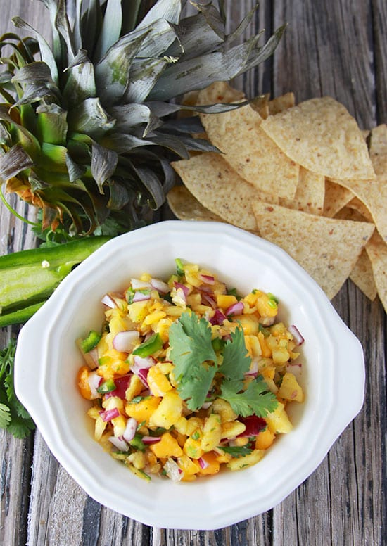 Papaya Pineapple Salsa by Cooking with Ruthie