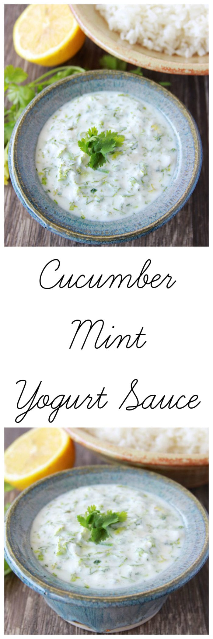 Cucumber Mint Yogurt Sauce is light and flavorful and will pair beautifully with your summer dinners! www.cookingwithruthie.com