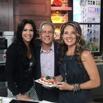 Fruit and Cream Cookie Pizza on Fox13 are as fun to make as they are to bake! www.cookingwithruthie.com