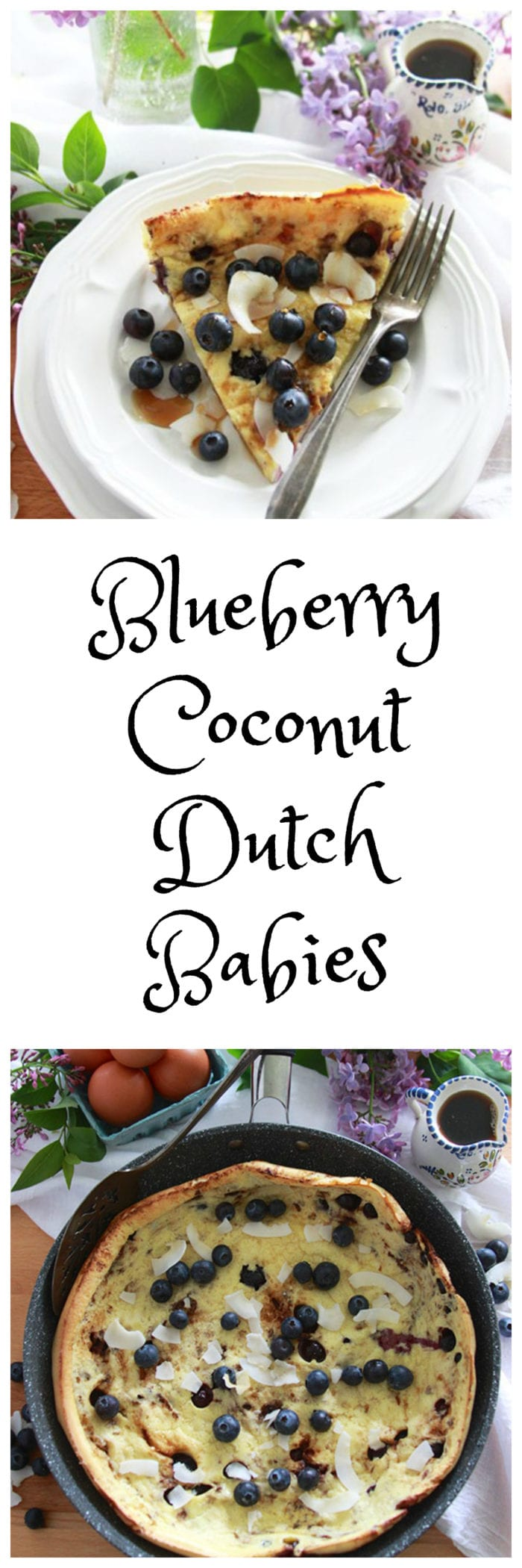 Blueberry Coconut Dutch Babies are the perfect way to start your weekend! www.cookingwithruthie.com
