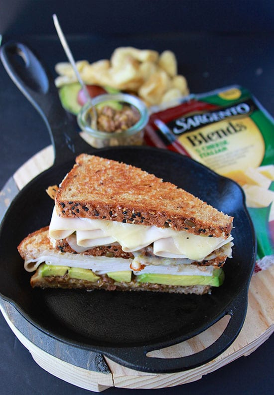Italian Turkey Avocado Grilled Cheese is a new spin on the classic grilled cheese! www.cookingwithruthie.com #ad @sargentocheese