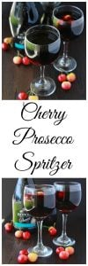 Cherry Prosecco Spritzer is a refreshing cocktail or mocktail for your summer soirees! www.cookingwithruthie.com